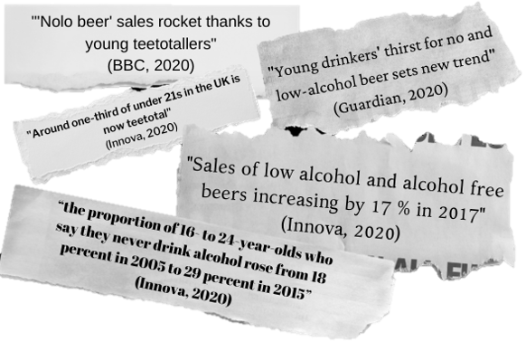 Alcohol-free beer news Vector